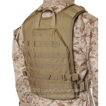Large image of Blackhawk Back Panel For Sale - S.T.R.I.K.E. Lightweight Commando Recon Back Panel by BlackHawk - Coyote Tan