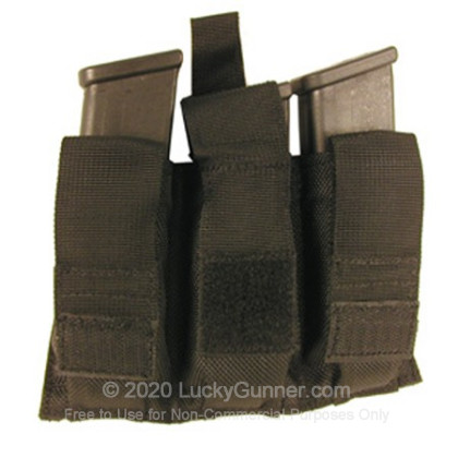 Large image of Triple Magazine Pouch Belt Loop Pistol Blackhawk Black For Sale