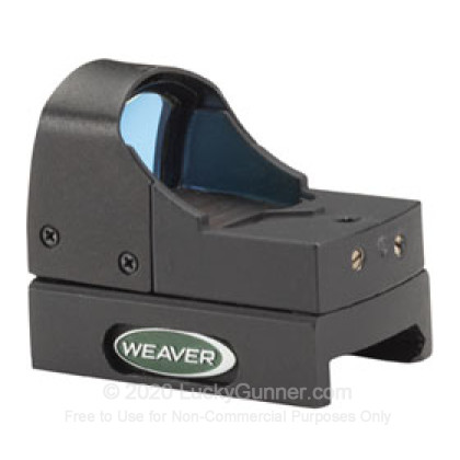 Large image of Weaver Micro Dot Sight - 4 MOA Red Recticle - Matte - 849255