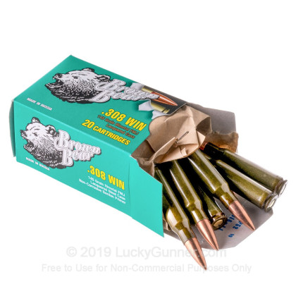 Image 3 of Brown Bear .308 (7.62X51) Ammo