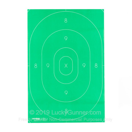 Large image of Targets - Champion - Green B27 Paper Center Ring - 100 Targets In Stock