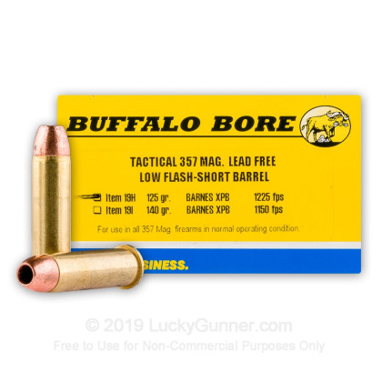 Image 1 of Buffalo Bore .357 Magnum Ammo