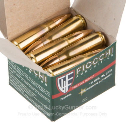 Image 3 of Fiocchi 7.62X39 Ammo