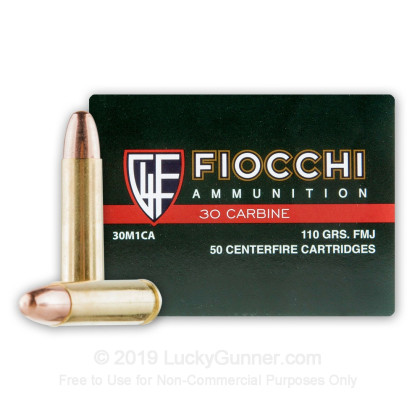 Image 1 of Fiocchi 30 Carbine Ammo