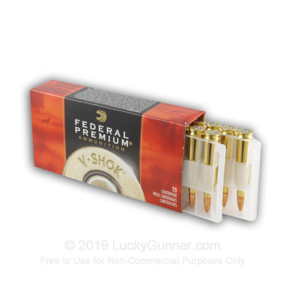 Large image of 243 Premium Game Ammo For Sale - 85 gr BTHP - Federal Premium Sierra GameKing Vital-Shok Ammo Online - 20 Rounds