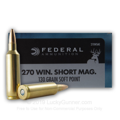 Image 1 of Federal .270 Winchester Short Magnum Ammo