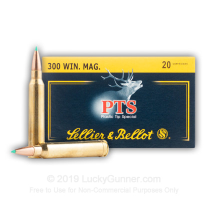 300 Winchester Magnum - 180 gr PTS - Sellier & Bellot - 20 Rounds