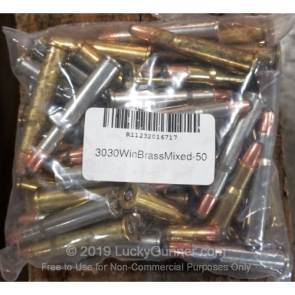3030 Win - Mixed Brass and Nickle Plated Ammo - 50 Rounds