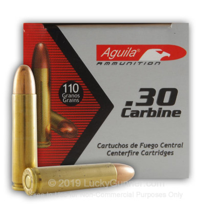 Image 1 of Aguila 30 Carbine Ammo