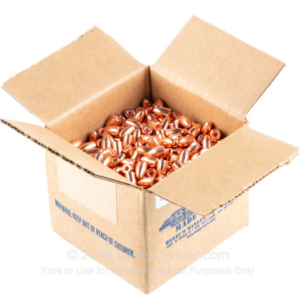 Large image of Bulk 9mm Bullets For Sale - 124 Grain Plated Hollow Base Round Nose Bullets in Stock by Berry's - 1000 Count