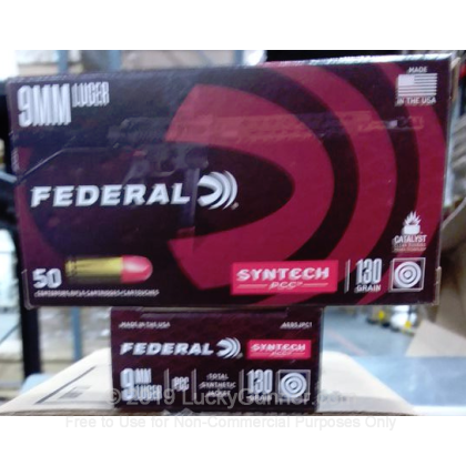 9mm - 130 Grain Total Synthetic Jacket - Federal Syntech PCC - 50 Rounds