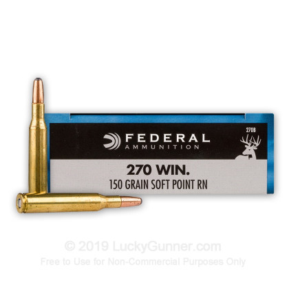 Large image of 270 Ammo For Sale - 150 gr SP - Federal Power-Shok Ammo Online