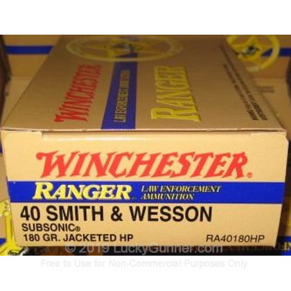 Image 8 of Winchester .40 S&W (Smith & Wesson) Ammo