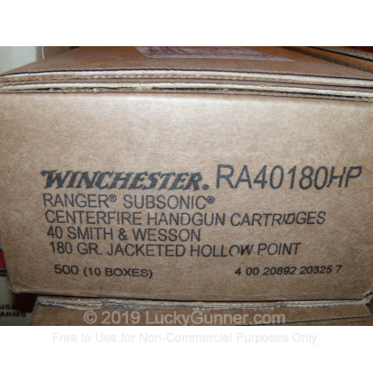 Image 11 of Winchester .40 S&W (Smith & Wesson) Ammo
