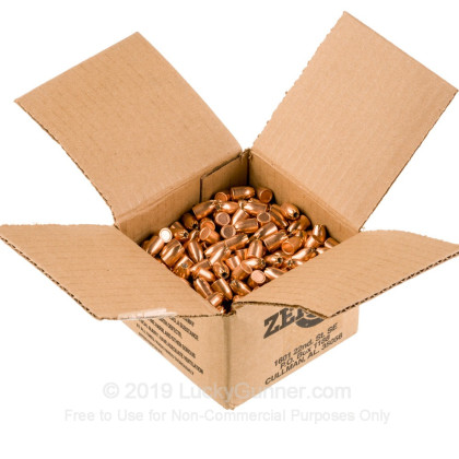 "Large image of Premium 38 Super (.356"") Bullets for Sale - 121 Grain JHP Bullets in Stock by Zero Bullets - 500 Projectiles"