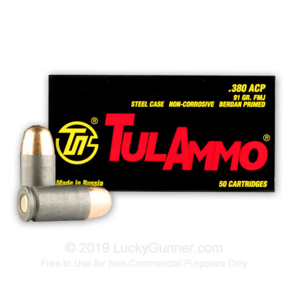 Image 2 of Tula Cartridge Works .380 Auto (ACP) Ammo