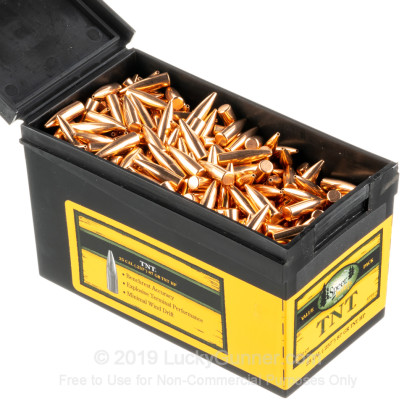 Large image of Bulk 257 Weatherby (.257) Bullets for Sale - 87 Grain HP TNT - Bullets in Stock by Speer - 750