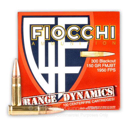 Large image of Bulk 300 AAC Blackout Ammo For Sale - 150 Grain FMJBT Ammunition in Stock by Fiocchi - 500 Rounds
