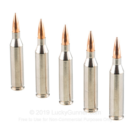 Large image of Premium 243 Ammo For Sale - 95 Grain Berger Hybrid Hunter Ammunition in Stock by Federal - 20 Rounds