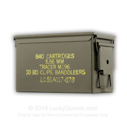 Large image of Surplus Ammo Can - M196 - Green - Like New - Lake City For Sale