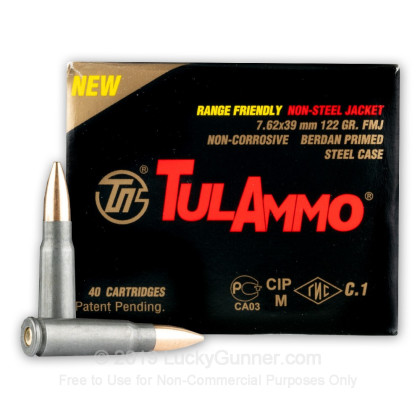 Image 1 of Tula Cartridge Works 7.62X39 Ammo