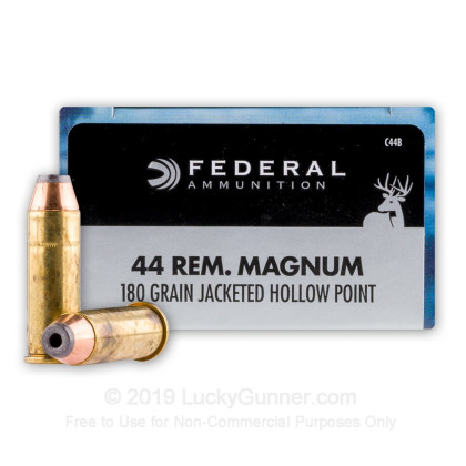 44 Mag - 180 Grain JHP - Federal Power-Shok - 20 Rounds