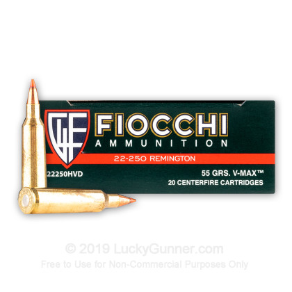 Image 2 of Fiocchi .22-250 Remington Ammo