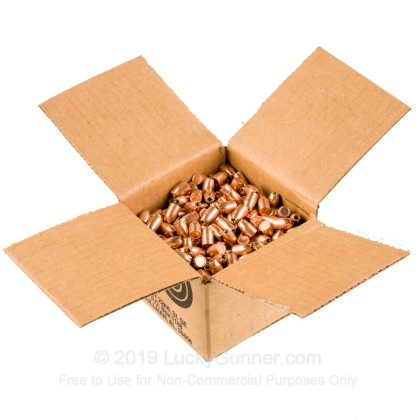 "Large image of Premium 9mm (.355"") Bullets for Sale - 125 Grain JHP Bullets in Stock by Zero Bullets - 500 Projectiles"