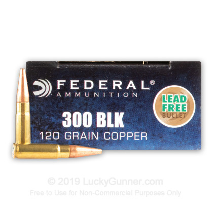 300 AAC Blackout - 120 Grain HP - Federal - 20 Rounds