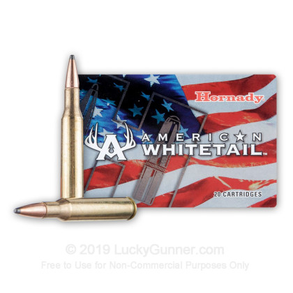 Large image of Premium 270 Ammo For Sale - 140 Grain Interlock Ammunition in Stock by Hornady American Whitetail - 20 Rounds