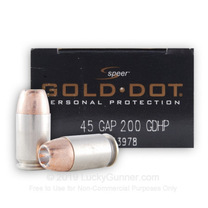 Image 1 of Speer .45 GAP Ammo