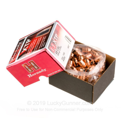 Large image of Bulk 45 Colt Bullets For Sale - 250 Grain XTP JHP Bullets in Stock by Hornady - 100