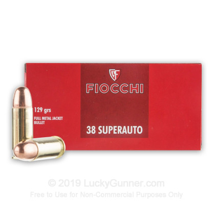Image 2 of Fiocchi .38 Super Ammo