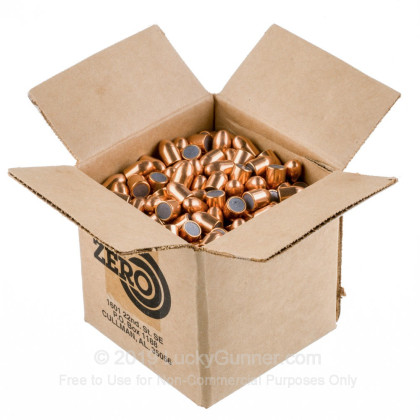 """Large image of Premium 45 ACP (.451"""") Bullets for Sale - 230 Grain FMJ Bullets in Stock by Zero Bullets - 500 Projectiles"""