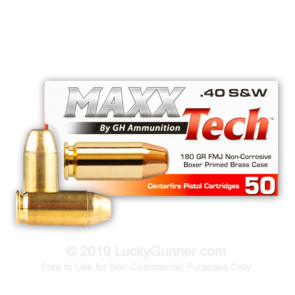Image 2 of MaxxTech .40 S&W (Smith & Wesson) Ammo