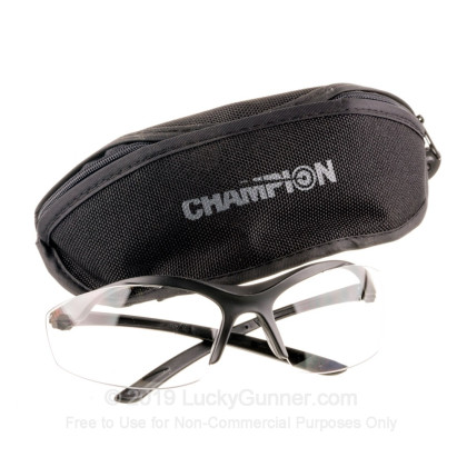 Shooting Glasses - Champion Ballistic Glasses - Interchangeable Lens  (Clear/Smoke/Yellow) - 1 Pair