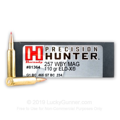 Image 1 of Hornady .257 Weatherby Magnum Ammo