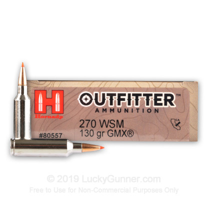 Image 1 of Hornady .270 Winchester Short Magnum Ammo