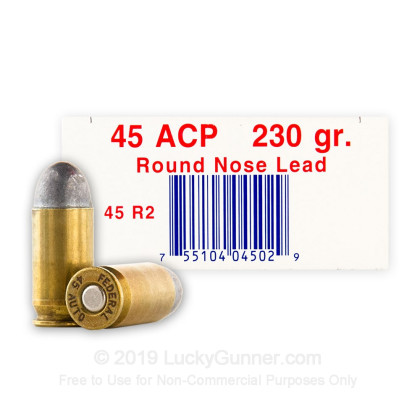45 ACP - 230 Grain LRN Remanufactured - Ultramax - 250 Rounds