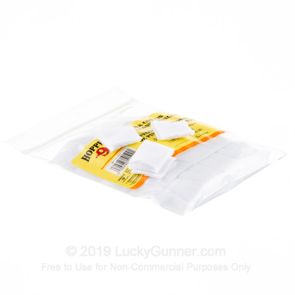 Large image of Bulk Hoppe's Cotton Patches for Sale - .22-.270 Caliber - Hoppe's Cleaning Patches For Sale - 500 Patches