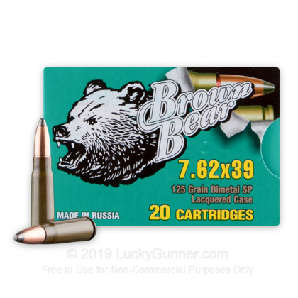 Image 1 of Brown Bear 7.62X39 Ammo