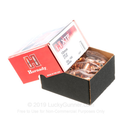 Large image of Bulk 40 Caliber Bullets For Sale - 200 Grain XTP JHP Bullets in Stock by Hornady - 100