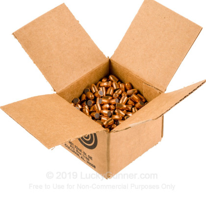 "Large image of Premium 9mm (.355"") Bullets for Sale - 125 Grain FMJ-FP Bullets in Stock by Zero Bullets - 500 Projectiles"