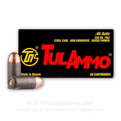 Image 1 of Tula Cartridge Works .45 ACP (Auto) Ammo