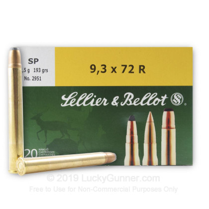 Image 2 of Sellier & Bellot 9.3x72 Rimmed Ammo