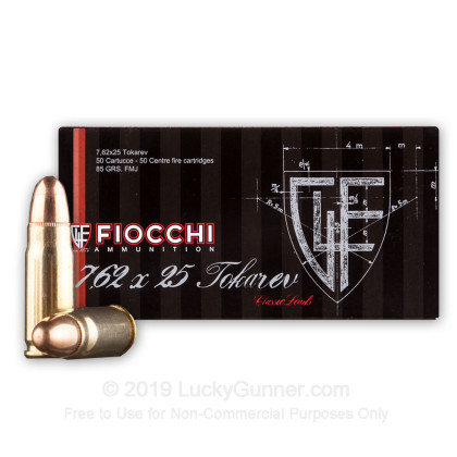 Image 2 of Fiocchi 7.62mm Tokarev Ammo