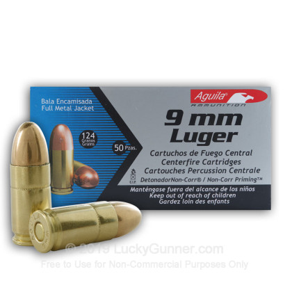 Image 2 of Aguila 9mm Luger (9x19) Ammo