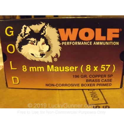 Image 2 of Wolf 8mm Mauser (8x57mm JS) Ammo