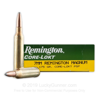 Image 1 of Remington 7mm Remington Magnum Ammo