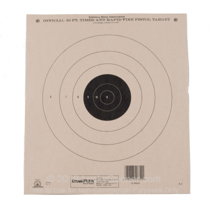 Large image of Champion Targets For Sale - 50 Foot NRA Timed and Rapid Fire Pistol Targets - 12 Pack